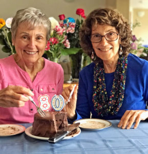 Joan and Shelah celebrate 80 years on earth