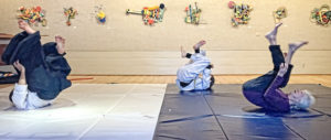 Lora rolling in Aikido class